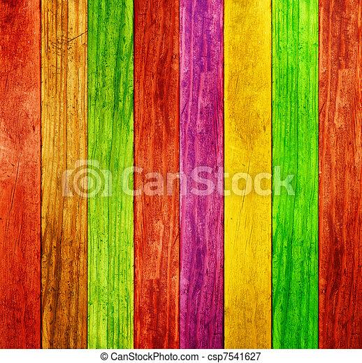 colorare, legno, fondo - csp7541627