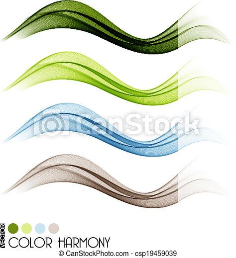colorare, linee, set, curva - csp19459039