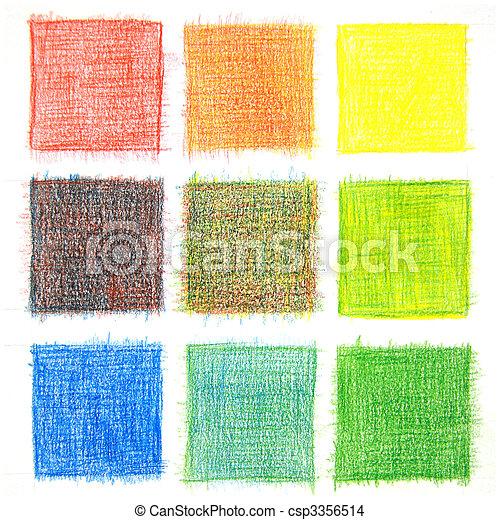 colorare, miscelare, fondo, matite - csp3356514