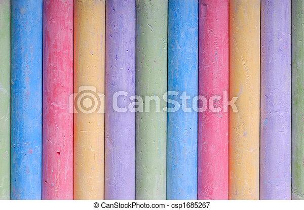 colorare, pastelli, linea - csp1685267
