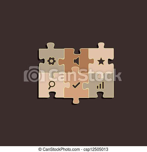 colorare, pastello, puzzle - csp12505013