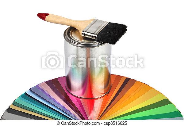 colorare, pennello, campioni, guida - csp8516625