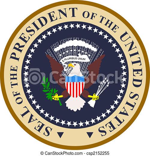 colorare, presidenziale, sigillo - csp2152255