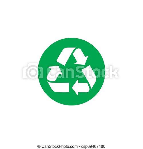 colorare, simbolo., vettore, riciclare, icon., icona - csp69487480