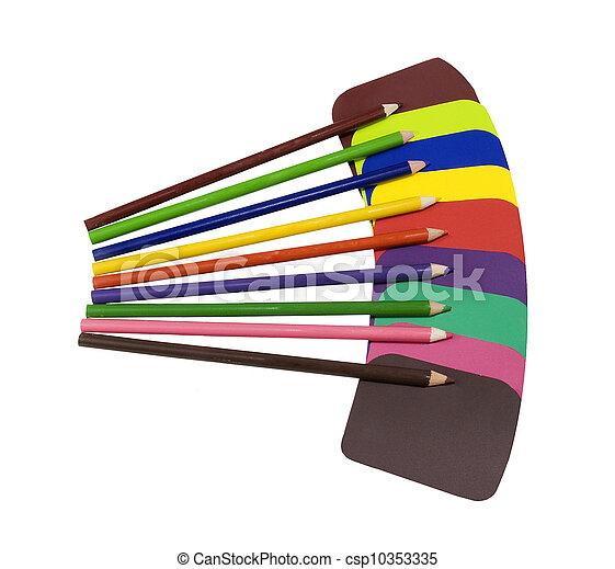 colorare, solido, campioni, vernice - csp10353335
