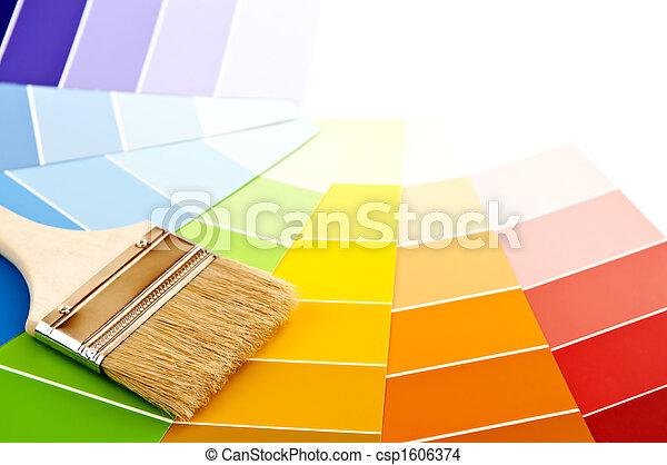 colorare, vernice, cartelle, spazzola - csp1606374