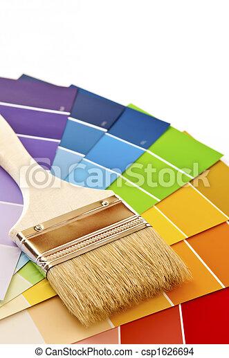 colorare, vernice, cartelle, spazzola - csp1626694