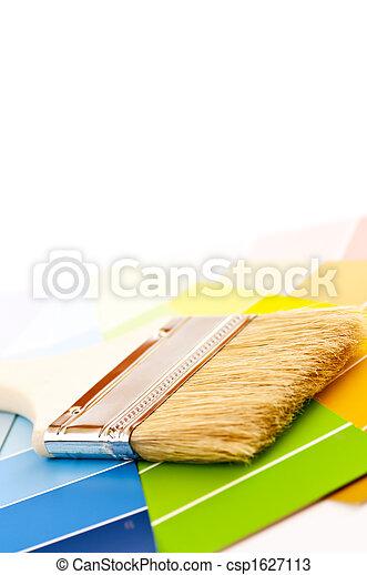colorare, vernice, cartelle, spazzola - csp1627113