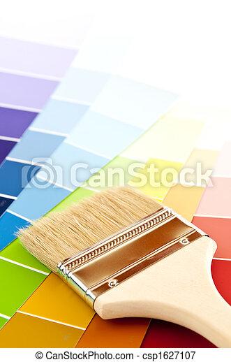 colorare, vernice, cartelle, spazzola - csp1627107