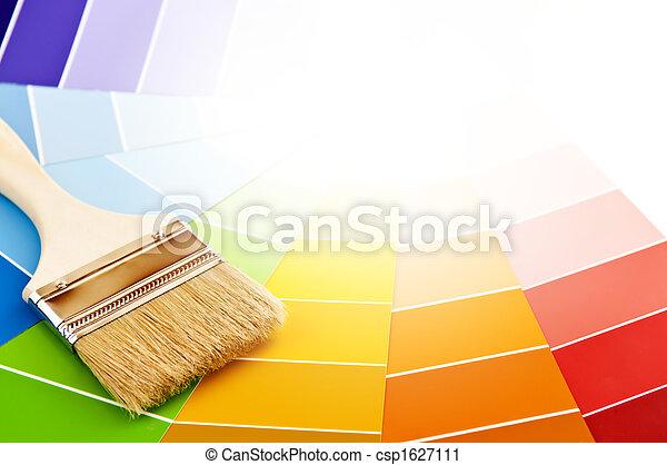 colorare, vernice, cartelle, spazzola - csp1627111