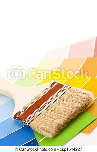 colorare, vernice, cartelle, spazzola - csp1644227