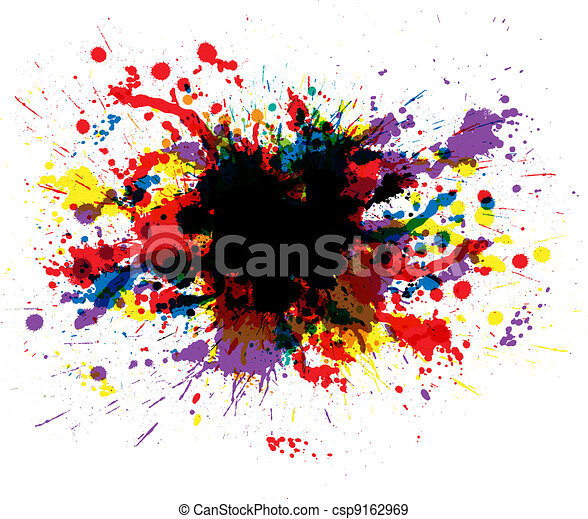 colorare, vernice, schizzi - csp9162969