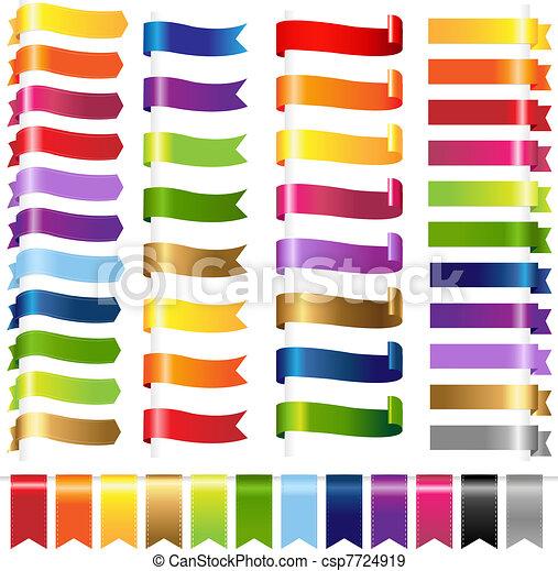 colorare, web, set, nastri - csp7724919