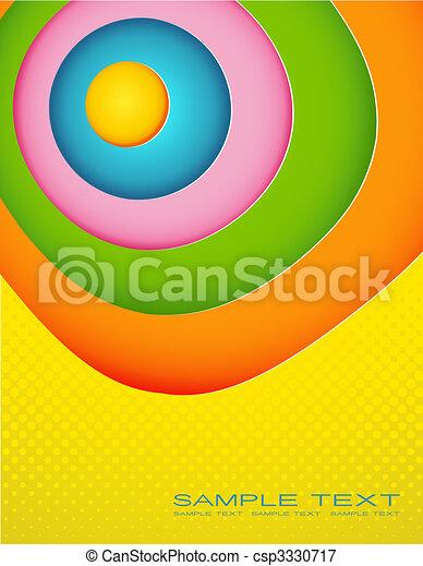 colorato, astratto, text., illustrazione, posto, tuo - csp3330717