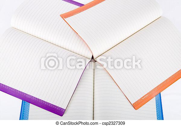 colore, quaderni, aperto - csp2327309