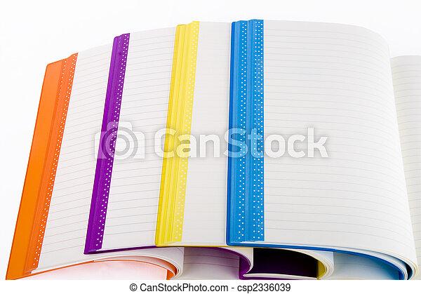 colore, quaderni, aperto - csp2336039