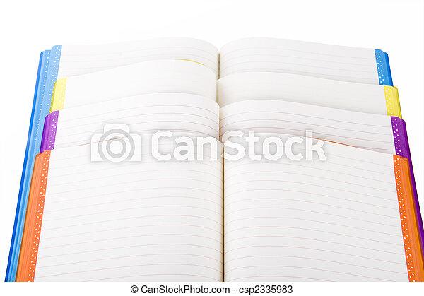 colore, quaderno, aperto - csp2335983