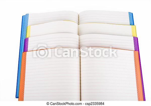 colore, quaderno, aperto - csp2335984