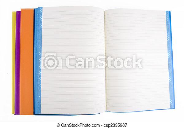 colore, quaderno, aperto - csp2335987
