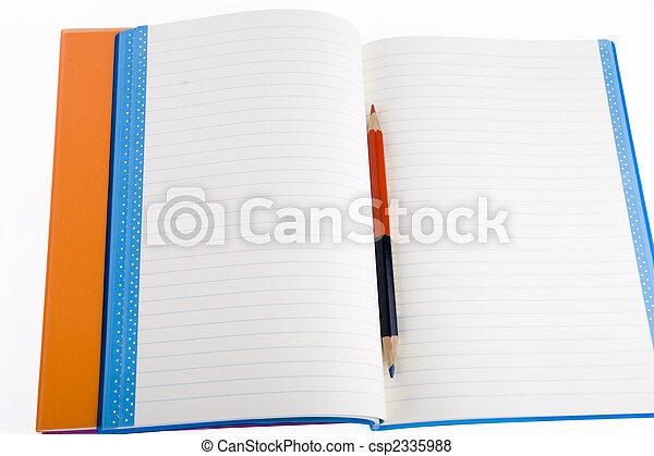 colore, quaderno, aperto - csp2335988
