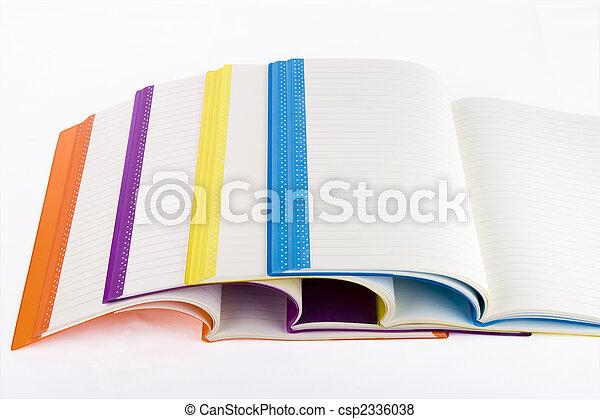 colore, quaderno, aperto - csp2336038