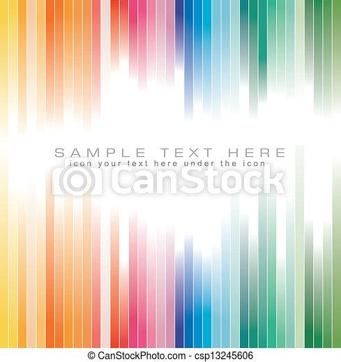 colori, arcobaleno, priorità bassa strisce, opuscolo - csp13245606