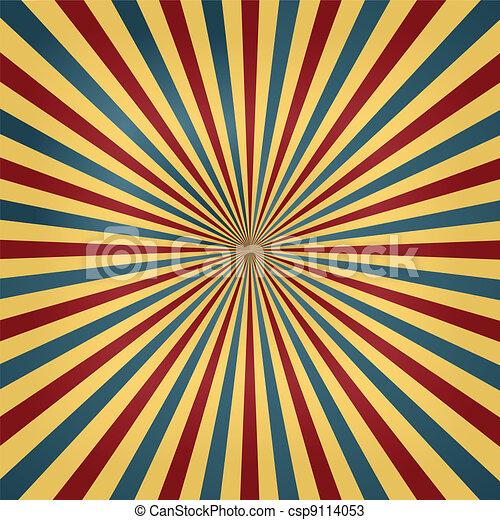 colori, circo, sunburst, fondo - csp9114053