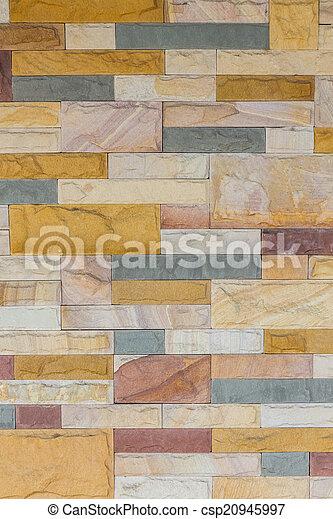 colorito, mattone, struttura, parete, fondo. - csp20945997