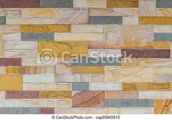 colorito, mattone, struttura, parete, fondo. - csp20945915