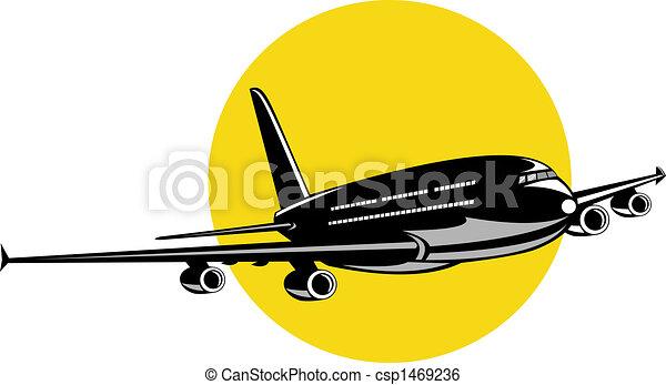 colosso, aereo, volo, jet - csp1469236