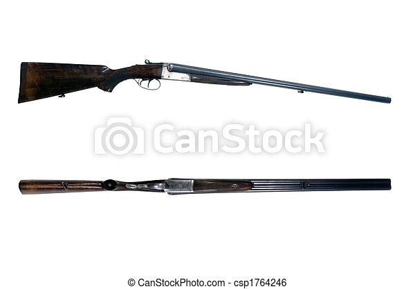 colpo, lato, fucile - csp1764246