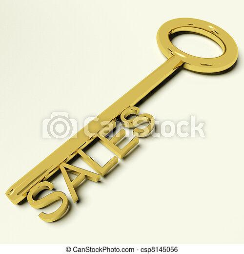 commercio, oro, affari, vendite, chiave, rappresentare - csp8145056