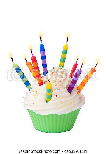 compleanno, cupcake - csp3397834