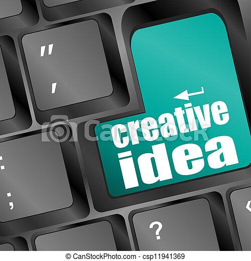 computer tastiera, idea, chiave, creativo - csp11941369