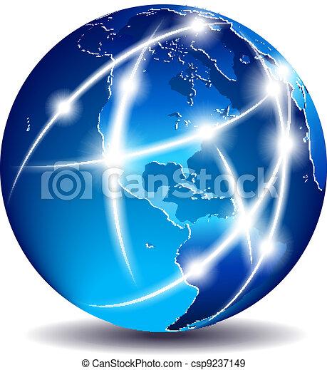 comunicazione, america, -, mondo - csp9237149
