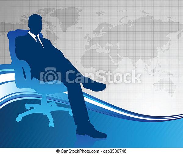 comunicazione globale, esecutivo, fondo, affari - csp3500748