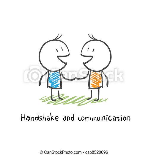 comunicazione, stretta di mano - csp8520696