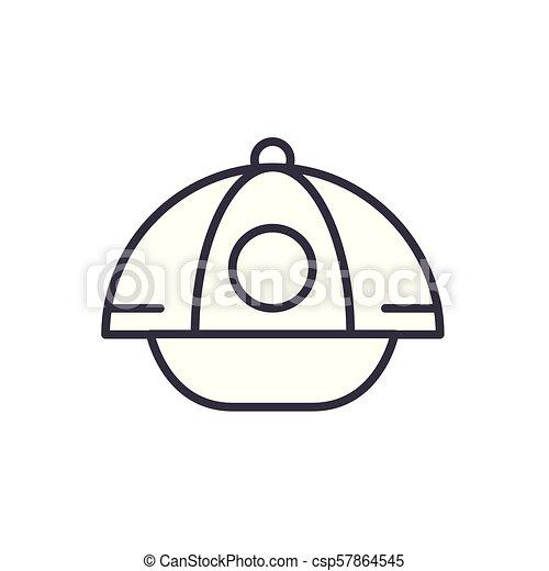 concept., sport, vettore, nero, simbolo, appartamento, icona, segno, berretto, illustration. - csp57864545