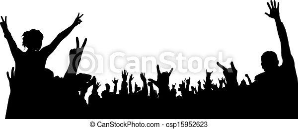 concerto, folla - csp15952623