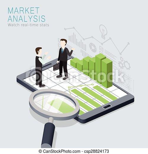 concetto, analisi mercato - csp28824173