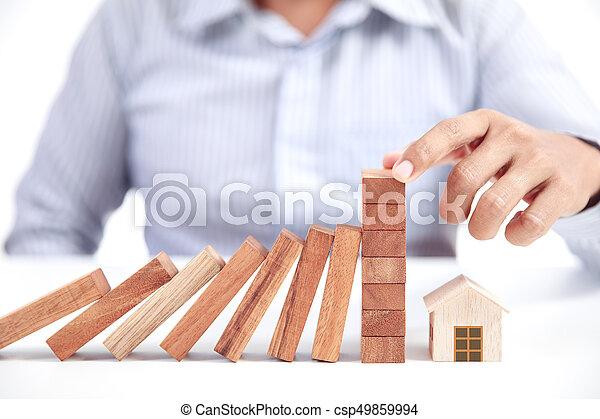 concetto, assicurazione casa - csp49859994