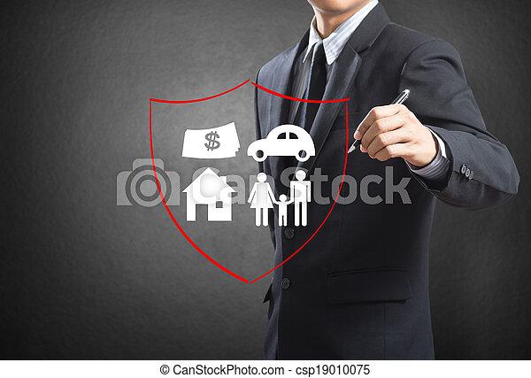 concetto, assicurazione - csp19010075