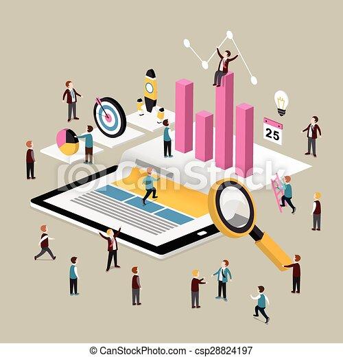 concetto, dati, analisi - csp28824197