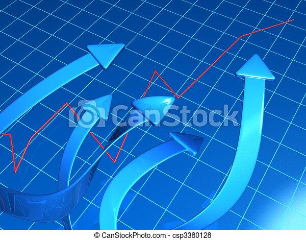 concetto finanziario, crescita, affari - csp3380128