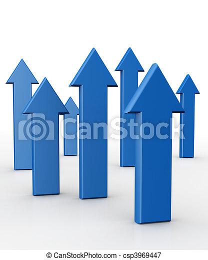 concetto finanziario, crescita, affari - csp3969447