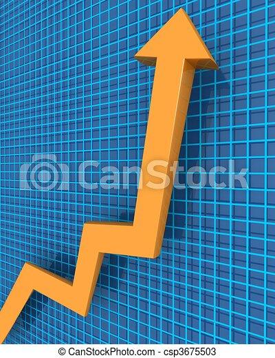 concetto finanziario, crescita, affari - csp3675503