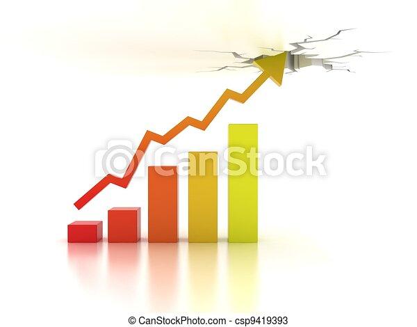 concetto finanziario, crescita, affari - csp9419393