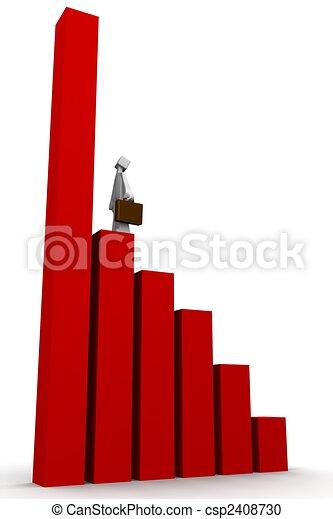 concetto finanziario, crescita, affari - csp2408730