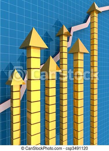 concetto finanziario, crescita, affari - csp3491120