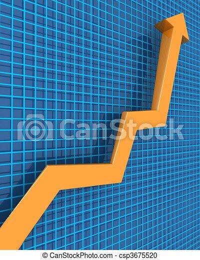 concetto finanziario, crescita, affari - csp3675520